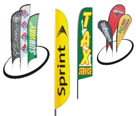 swooper feather teardrop flags custom and stock